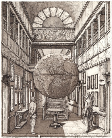 Entrance Hall with a globe
